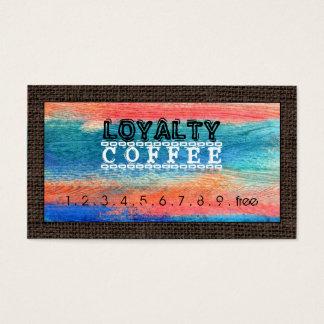 Loyalitäts-Kaffee-Durchschlags-buntes Holz #10 Visitenkarten