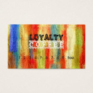 Loyalitäts-Kaffee-Durchschlags-buntes hölzernes Visitenkarten