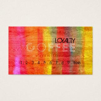 Loyalitäts-Kaffee-Durchschlags-buntes modernes Visitenkarten