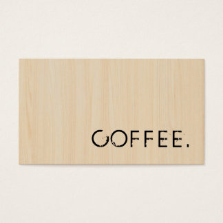 Loyalitäts-Kaffee-Durchschlags-hölzerner Blick Visitenkarten