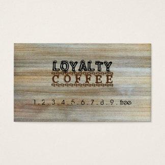 Loyalitäts-Kaffee-Durchschlags-modernes Holz #2 Visitenkarten