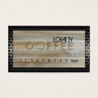 Loyalitäts-Kaffee-Durchschlags-modernes Holz #8 Visitenkarten