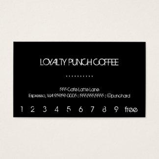 Loyalitäts-Kaffee-Lochkarte Visitenkarten