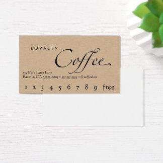 Loyalitäts-Kaffee-Lochkarten-Imitat Handwerk Visitenkarte