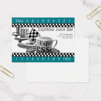 Loyalitäts-Kaffee-Lochkarten Visitenkarte