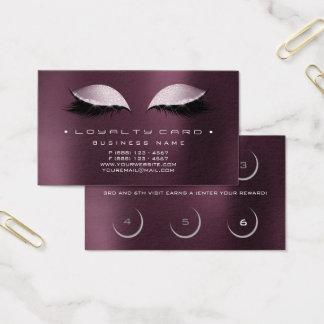 Loyalitäts-Karten-Schönheits-Salon-Make-up Coffe Visitenkarte