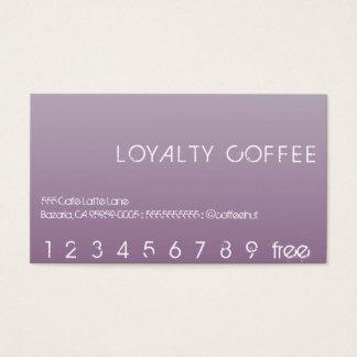 Loyalitäts-Lochkarte Visitenkarten