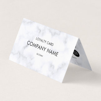 Loyalitäts-weißes Marmormuster Visitenkarten