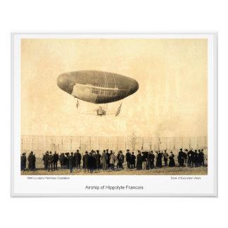 LPE01 - Luftschiff von Hippolyte Francois Fotodruck