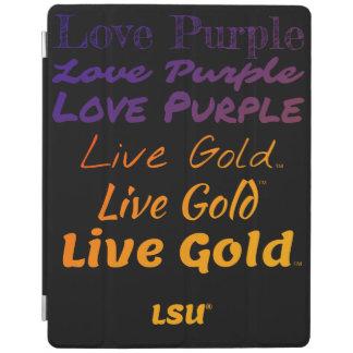 LSU Liebe-lila LivegoldiPad intelligente Abdeckung iPad Hülle