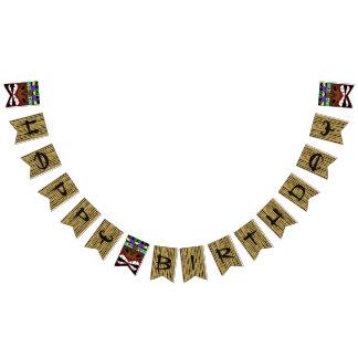 Luau Totem-Bambusalles Gute zum Geburtstag Wimpelketten