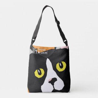 Lucas die Popkunst-Entwurfstasche der Katze Tragetaschen Mit Langen Trägern