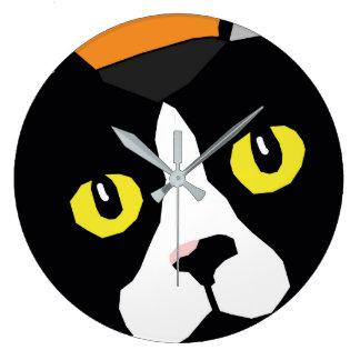 Lucas die Popkunst-Wanduhr der Katze abstrakte Große Wanduhr