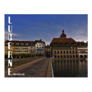 Lucerne old Town Switzerland Postcard Postkarte