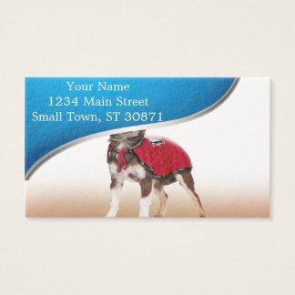 Lucha libre Hund, lustige Chihuahua, Chihuahua Visitenkarte