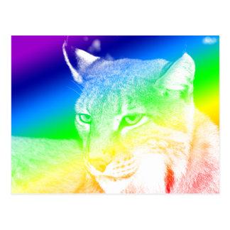 Luchs-Regenbogen-Höhepunkte Postkarte