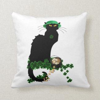 Lucky Le Chat Noir - St Patrick Tag Kissen