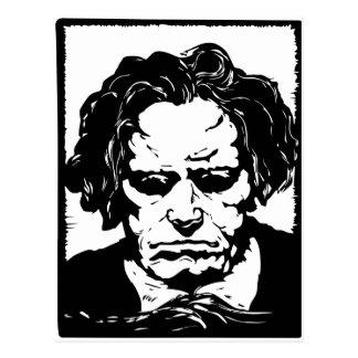 Ludwig van Beethoven - berühmter deutscher Postkarte