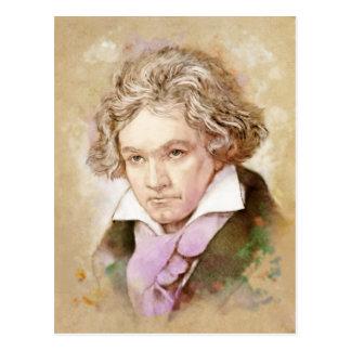 Ludwig van Beethoven im Aquarell Stil Postkarte
