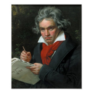 Ludwig van Beethoven-Porträt Poster