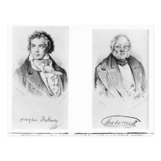 Ludwig van Beethoven u. Francois-Antoine Habeneck Postkarte