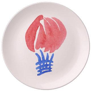 """Luft-Ballon 10,75"""" dekorative Porzellan-Platte Teller"""