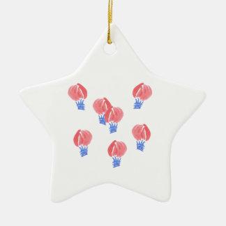 Luft-Ballon-Stern-Verzierung Keramik Ornament