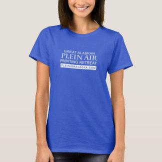 Luft-Malerei-Rückzug Damen-großer Alaskas Plein T-Shirt