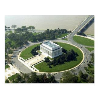 Luftaufnahme des Lincoln Memorials Postkarte