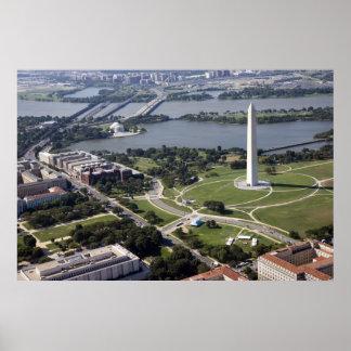 Luftaufnahme des Washington-Monuments Poster