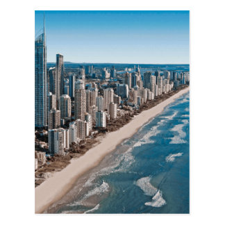 Luftaufnahme Gold Coast Australien Postkarte
