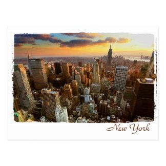 Luftaufnahme New York Postkarte