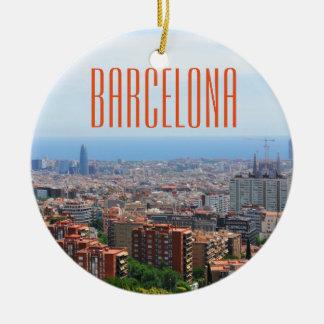 Luftaufnahme von Barcelona, Spanien Keramik Ornament
