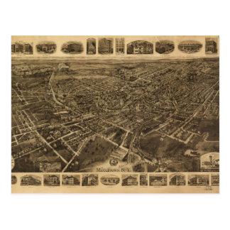 Luftaufnahme von Middletown, New York (1921) Postkarte