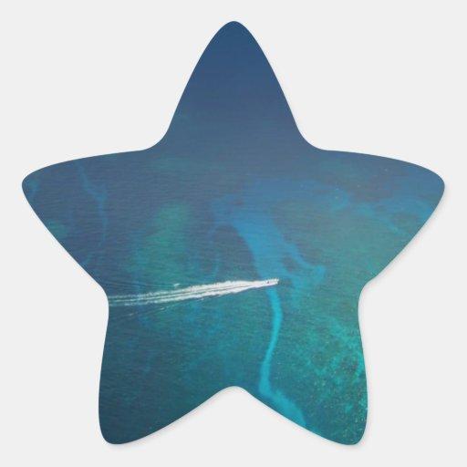 Luftbildfotografie der Malediven Stern Aufkleber