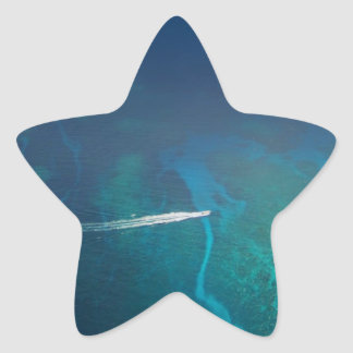 Luftbildfotografie der Malediven Stern-Aufkleber