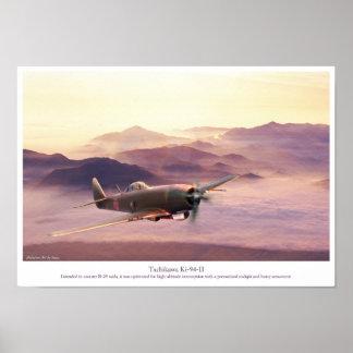 """Luftfahrt-Kunst-Plakat """"Tachikawa Ki-94-II"""" Poster"""