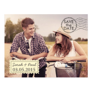 Luftpost-Foto-Save the Date Postkarte