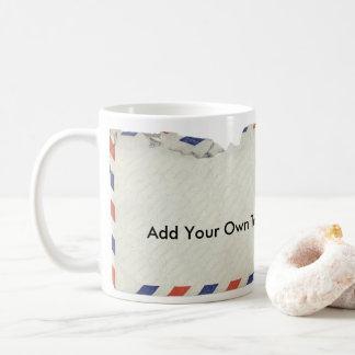 Luftpost-Kaffee-Tasse - addieren Sie Ihren eigenen Kaffeetasse