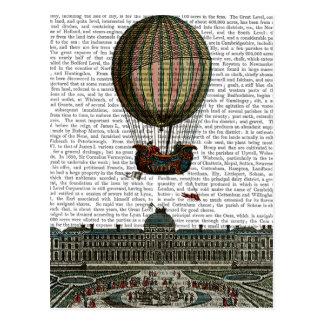 Luftschiff über Stadt Postkarte
