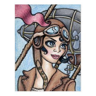 Luftschiff VersuchsSteamface Postkarte