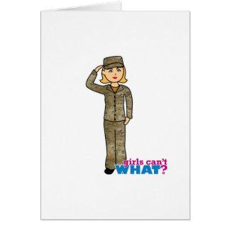 Luftwaffen-Camouflage-Blondine Karte