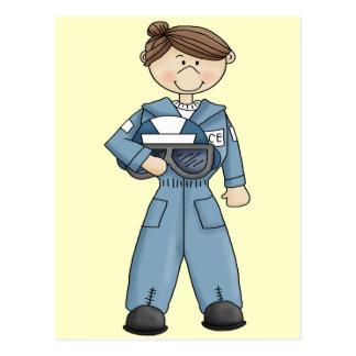 Luftwaffen-Mädchen Postkarte