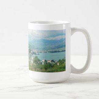 Lugano die Schweiz Kaffeetasse