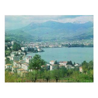 Lugano die Schweiz Postkarte