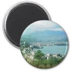 Lugano die Schweiz Runder Magnet 5,7 Cm