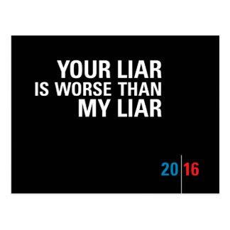 Lügner-Lügner/politische Postkarten