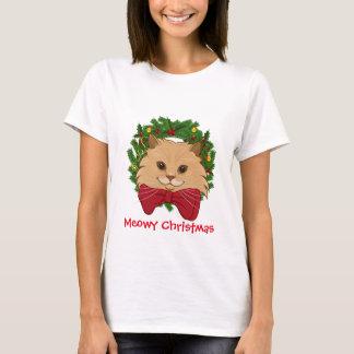 Luigi der Löwe-Katzen-hässliche WeihnachtsT - T-Shirt