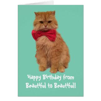 Luigi die Löwe-Katzen-Geburtstags-Karte Karte