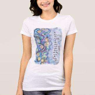 Luke-10:27 Starlight-T - Shirt.  Blaue T-Shirt